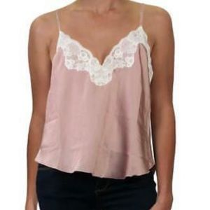 NWT! Free People Silky Satin Lace Cami